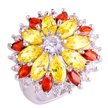 Peridot Multi-Colour Flower Ring