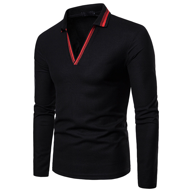 Polo   Shirt Men 2019 Spring New Style Large V-neck   Polo   Fashion Mens Clothing Collar Patchwork   Polo   Homme Camisas   Polo   Shirt