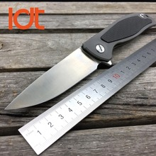LDT Bear F95 Folding S35VN Blade Knife TC4 Titanium Carbon Fiber Handle Outdoor Camping Knives Ball Bearing Survival Knife Tools