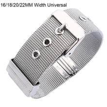 16/18/20/22MM Mesh Milanese Watch Band 304L Stainless Steel Unisex Nato Style Wristband Strap Watch Band With Needle Buckle(China)