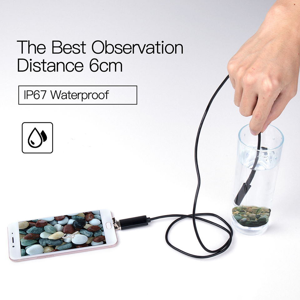 HTB1s1E1bEGF3KVjSZFvq6z nXXaD Wsdcam Endoscope Camera 7MM 2 in 1 Micro USB Mini Camcorders Waterproof 6 LED Borescope Inspection Camera For PC Smart Phones