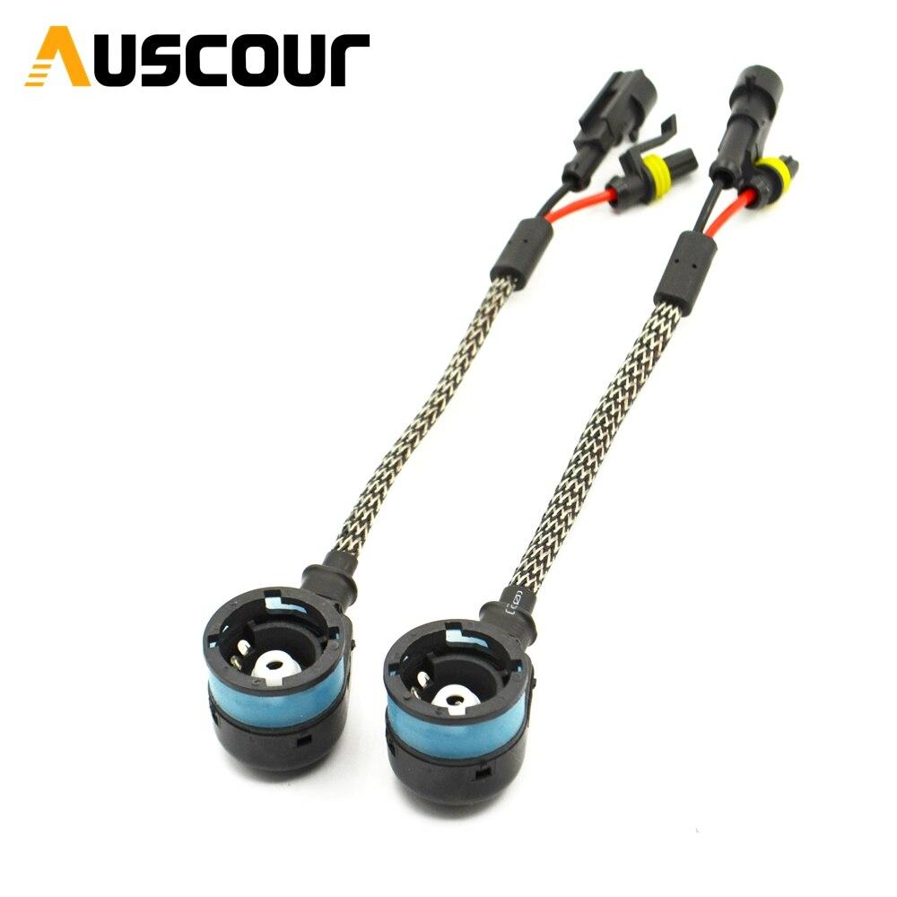 2 PCS D2S adaptador conector ESCONDEU Cablagens AMP adaptador de tomada Conversor Fio Cabo Plug Conectores D2R