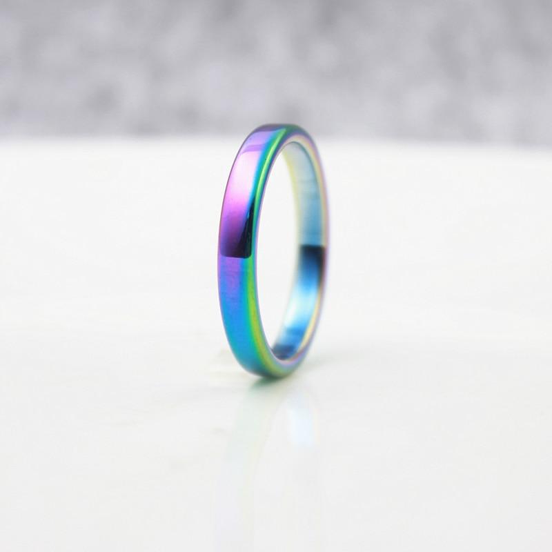 4mm flat rainbow hematite rings hematite wedding rings