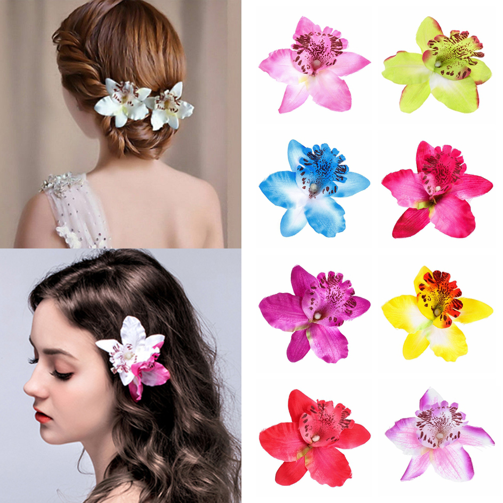 Fashion Flowers Hot  Hair Clips Women Chic Fashion Butterfly Orchid Fake Gift