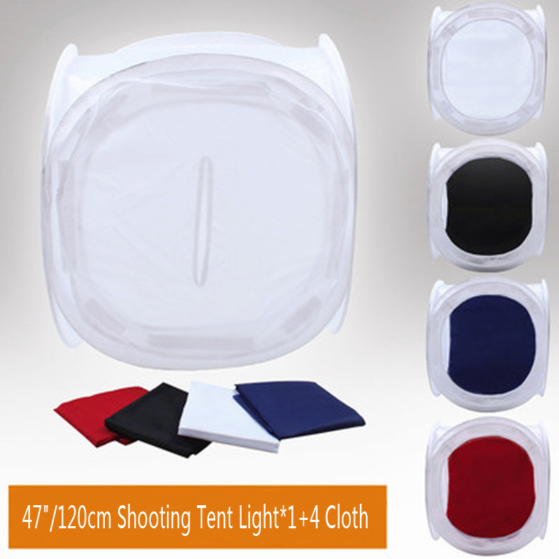 Photo Studio Shooting 47/120cm Tent Light Softbox Soft Box With 4 Backdrops Photo Studio Accessories godox 1000 led studio video continuous light lamp for camera camcorder dv 3300k