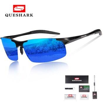 3bfd15cec7 Gafas de sol de Ciclismo de aluminio de magnesio Queshark polarizadas para  hombre gafas de ciclismo para conducir senderismo gafas de esquí gafas de  pesca