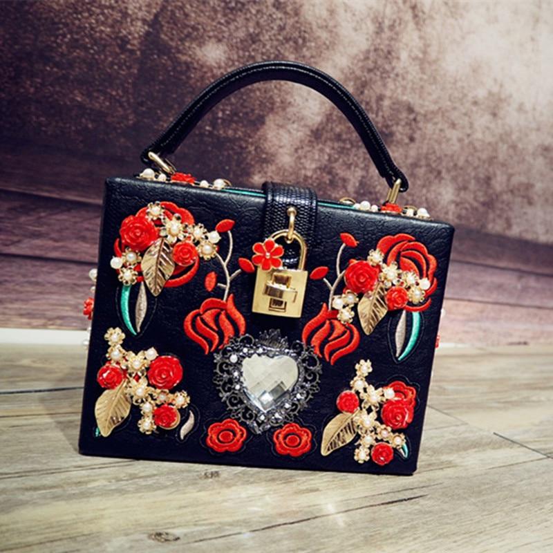 ФОТО 2017 New Arrival Top Diamonds Women Polyester Hard Luxury Women's Handbag Shoulder Bag Handbag, European And American Dinner