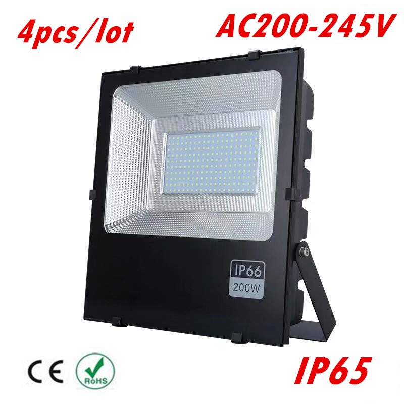 4X LED Flood Light 50W 100W 150W 200W IP65 180V-265V LED Spotlight Refletor Outdoor Lighting Wall Lamp Floodlight led flood light 200w ip65 waterproof ac85 265v led spotlight refletor outdoor lighting led floodlight garden lamp landscape