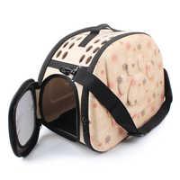 EVA transporteur pour animaux de compagnie chiens chat pliant Cage pliable caisse sac à main sacs de Transport animaux fournitures Transport Chien chiot accessoires