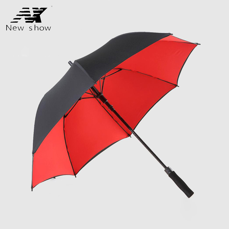 Double Layer Long Handle Golf Umbrella Man Women Rain Windproof Paypal Men Male Paypal Custom Logo Sunscreen Glass Fiber