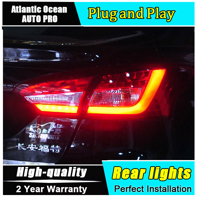 Car Styling for Ford Focus 3 Taillights 2012-2014 for New Focus Sedan LED Tail Lamp Rear Lamp Fog Light DRL+Brake+Park+Signal en car styling led tail lamp for chevrolet cruze 2009 2014 sedan taillights rear light drl turn signal brake reverse accessories