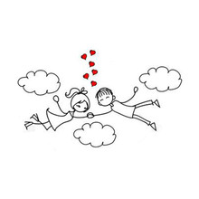 Love Boy Girl Cloud Metal Cutting Dies for Scrapbooking New 2019 Die Cuts Card Making Craft Stitch Background