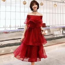 Коктейльное платье коктейль с коротким рукавом платья Многоуровневое молнии вечерние Женская обувь, Большие размеры сексуальное платье с открытыми плечами и халат коктейльное платье с E718