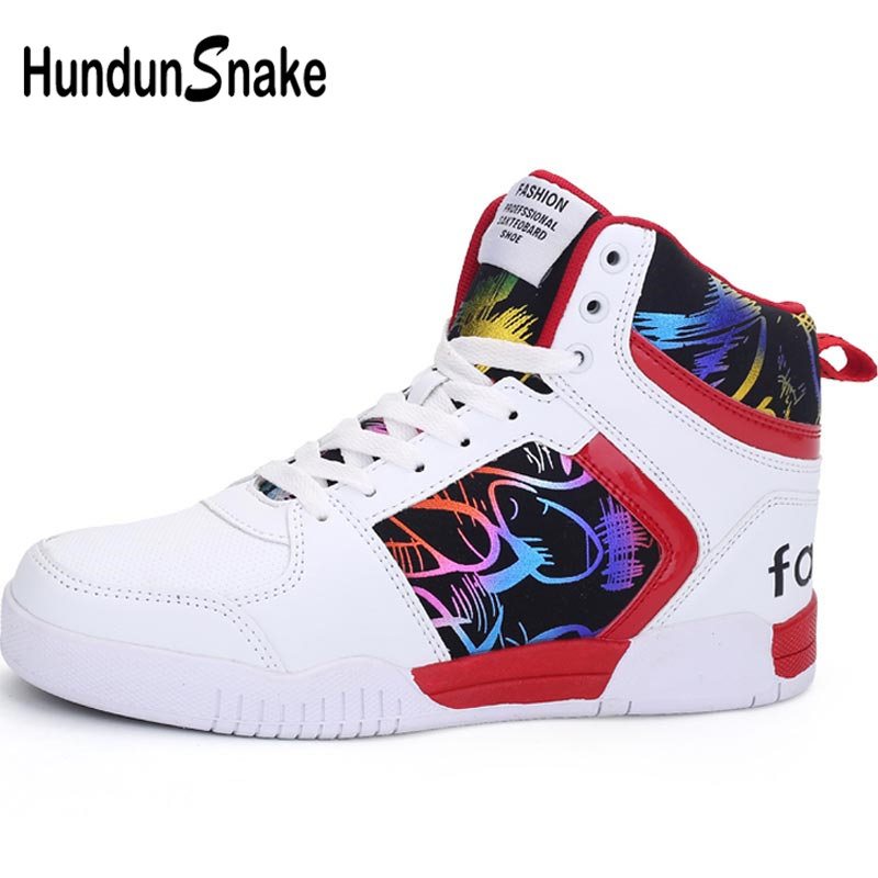 Hundunsnake Pu Leather Sneakers Men High Top Chaussure Homme Sport Shoes Women Running Shoe Sports White Gym Sporty Tennis A-080 sneakers