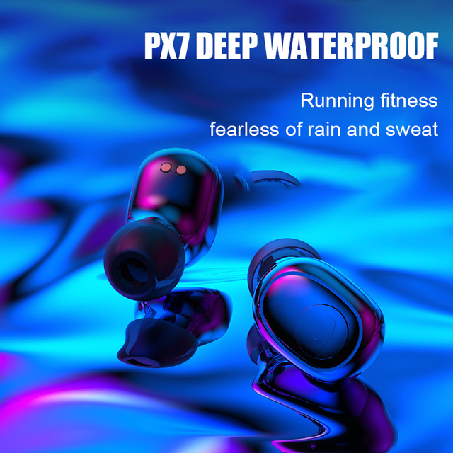 Bluetooth 8D Stereo Earbuds Waterproof with 3500mAh Power