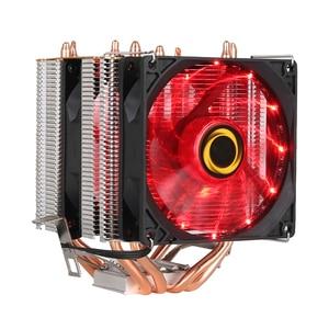 Image 3 - קריר מאוורר למעבד אינטל AMD מעבד 4 חום צינורות קירור 4PIN מעבד רדיאטור 3 מאוורר