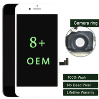 100% Топ экран для iphone 8 Plus ЖК дисплей OEM с сенсорным экраном планшета черный и белый мобильный телефон LCD запасные части