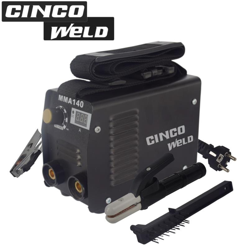Cinco Welding Machine Mini MMA 140A Inverter Arc Electrode Welder for Welding new 220v welding tools igbt inverter dc mma welder machine equipment device suitable 2 0 electrode with accessory and eyes mask