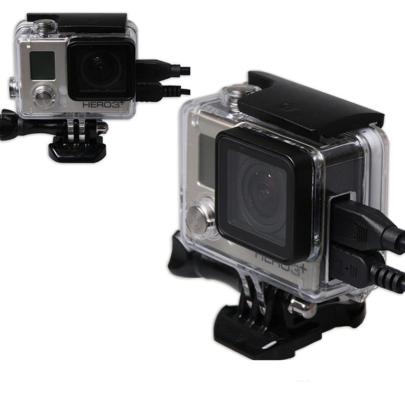 Carcasa protectora lateral abierta de esqueleto para GoPro Hero 4 3 + - Cámara y foto - foto 1