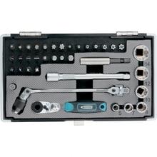 Набор бит и головок торцевых GROSS 11625 (37 предметов в наборе, сталь, 27 бит, 6 торцевых головок, трещетка, адаптер, удлинитель, держатель для бит, футляр)