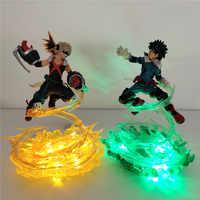 Boku No Hero Universidad Lampara bakugou katsuki VS Midoriya Izuku Led luz de noche mi héroe Universidad DIY escena de batalla lámpara de mesa