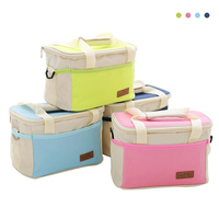 Thicken Folding Fresh Keeping Waterproof Oxford Bento Lunch HandBags Cooler Tote Bag Insulation Thermal Bag Insulation
