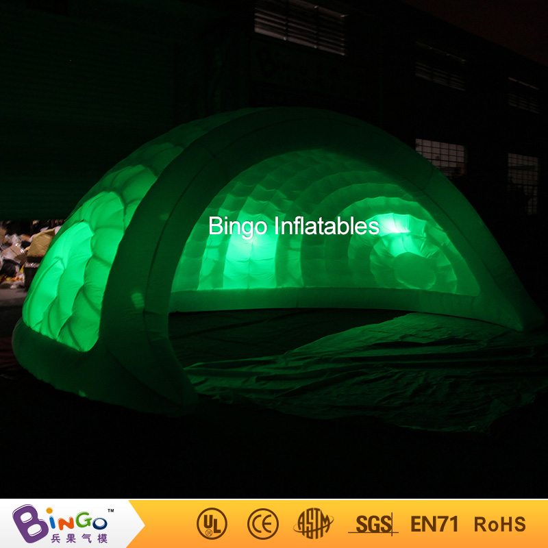 5X4.2X2.5 meters color change LED inflatable igloo tent , air-blown garden igloo tent , dome tent with price toy tent r001 crazy price pvc 5 5m long inflatable air tight arch