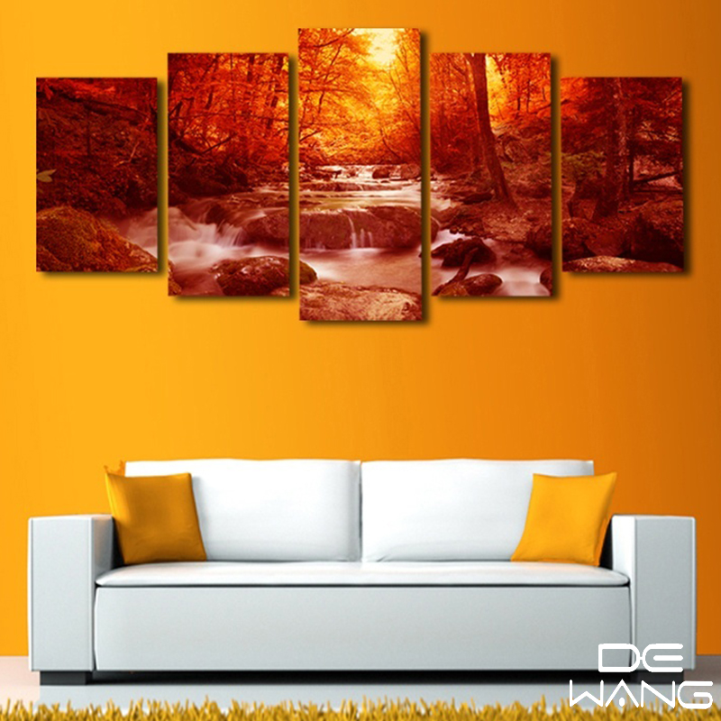 5 piece canvas print painting modern wall art home decor - Modern wall decor for living room ...