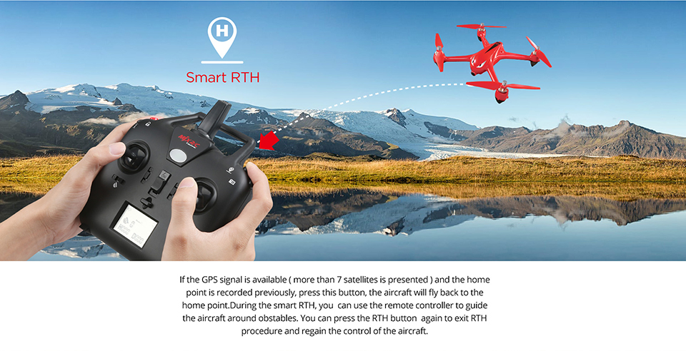MJX B2W Bugs 2 GPS Brushless RC FPV Drone Quadcopter With WIFI Real-Time 1080P HD Camera Altitude Hold Headless RC Aircraft