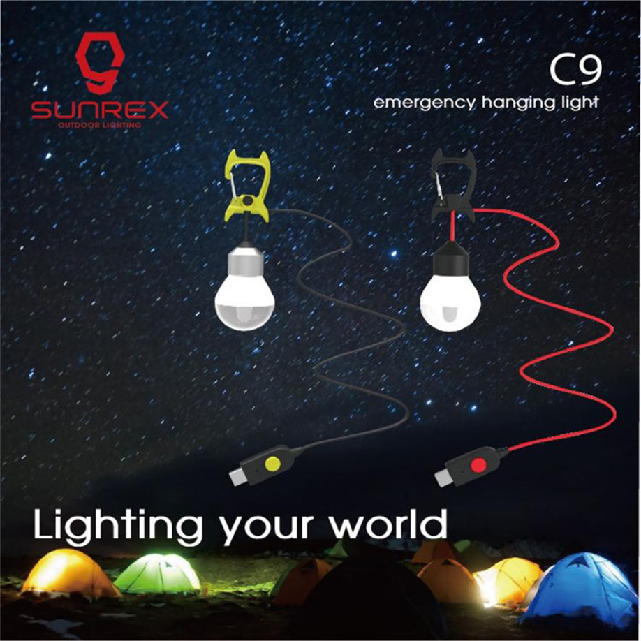 цена на Bright USB LED Outdoor Camping Tent Light Lantern Hiking Fishing Hanging Lamp ABS  boating Waterproof IPX4 USB Charger 2018