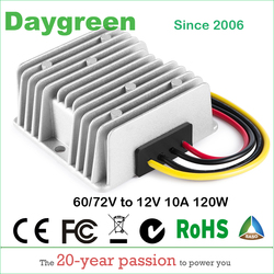 40-90V TO 12V 10A  120W DC DC Step Down Switching Converter 48V 60V 72V to 13.8V 10A, 80V to 13.8VDC 10AMP CE