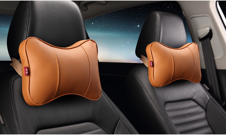 2pcs Car Headrest General Car Leather Headrest For Bmw Audi Kia Honda Suv Suitable For All Models Of Cars Automobiles & Motorcycles