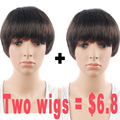 Promotions Short Synthetic Wigs For Black Women Wig Female Short Hair Dark Brown Natural Hair Fast Shipping Wigs