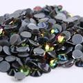 AAAA + Calidad Rainbow Cristales Flatback DMC Hot Fix Rhinestones, Accesorios de la Ropa Gris Pegamento. SS6, SS8, SS10, SS16, SS20, SS30
