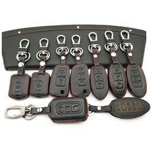가죽 자동차 키 커버 닛산 Qashqai J11 X 트레일 T31 T32 Vampira Pathfinder 무라노 Teana Juke 자동차 키 케이스 보호 쉘