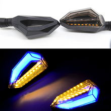 hot!Turn Lights Motorcycle Modified Waterproof LED Yellow and Blue Color 12V Signal Lights Motors Daytime Running lights 18LED 4 led 12v vehicle signal lights 2 pack yellow