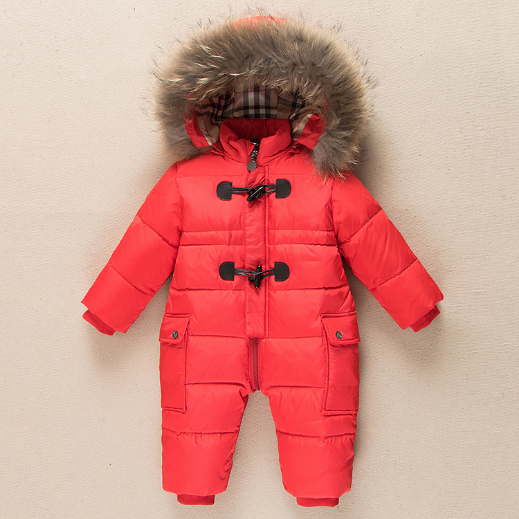 Winter Kid Baby Romper Natural Fur Clothes Newborn Warm SnowSuit Enfant Outwear Duck Down Waterproof Boy Girl Jumpsuit Overalls 12pcs set chinese medical vacuum body massager magnetic acupunture vacuum cupping portable massage therapy tens hijama cupping