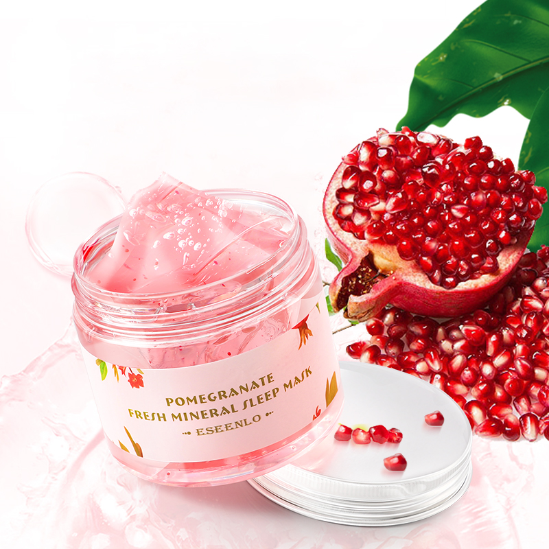 Red Pomegranate Sleeping Mask Whitening Shrink Pores Anti Wrinkle Anti Aging Moisturing Facial Mask Sleeping Mask Brighten Skin