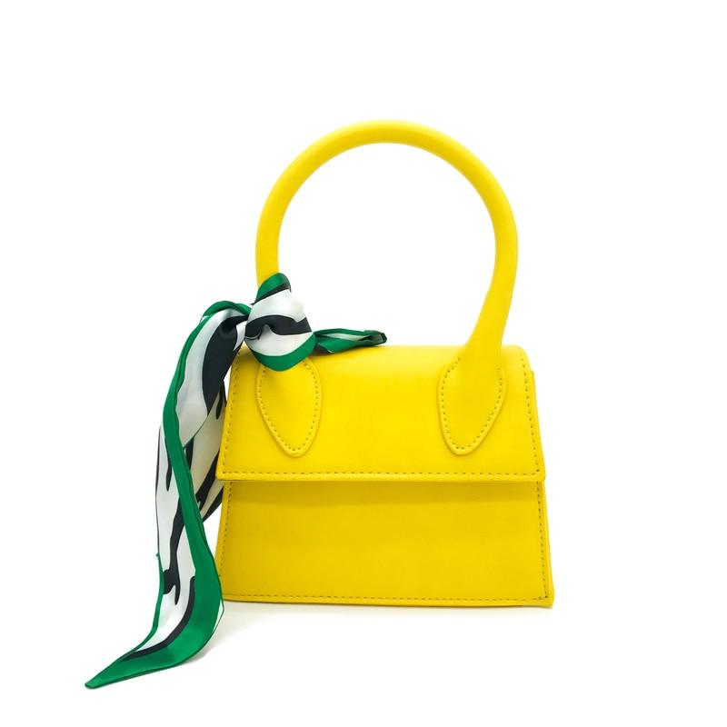Women's handbag silk scarf handbag is a fashion wild new shoulder bag Messenger bag mini bag frosted handbag wide shoulder strap winter fashion wild shoulder messenger messenger bag