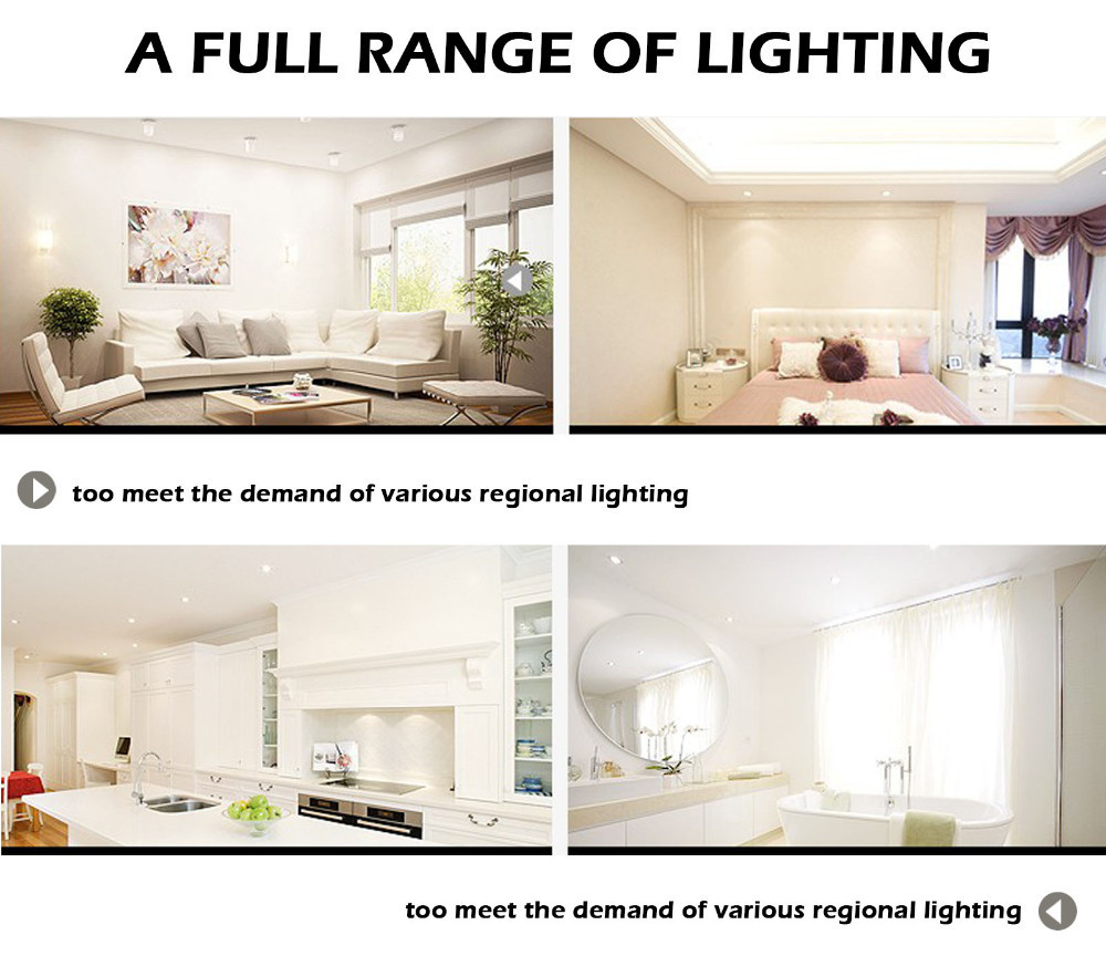 Image 5 - 9W Dimmable LED Downlight Round Recessed Lamp 220V 230V 240V Led Bulb Bedroom Kitchen Indoor LED Spot Lighting z35-in Downlights from Lights & Lighting