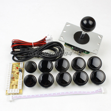 New Black USB Encoder To PC joystick + 5Pin 8 Way Rocker + 10x Push Buttons For Arcade Mame Games diy Kits Parts