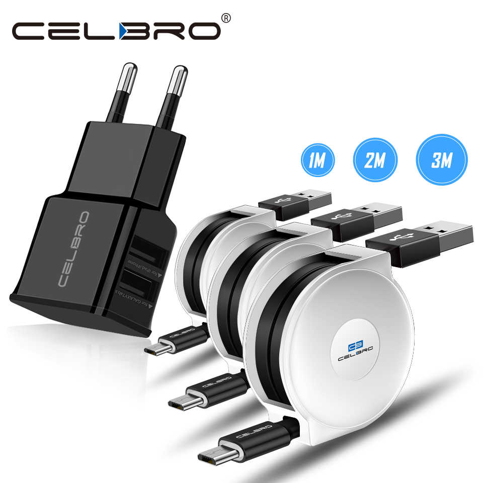 Micro Usb cable For Samsung Galaxy A3 A5 A7 2016 J3 J5 J7 J2 2017 Retractable Cabel Charging data Kabel Kablo Usb Wall Charger