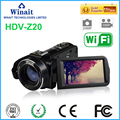 """Nova marca Hot 24Mp Wifi 1080 P Full HD de Vídeo Digital Lente Grande Angular câmera Filmadora com Controle Remoto Sapata 3 """"Display Touch"""