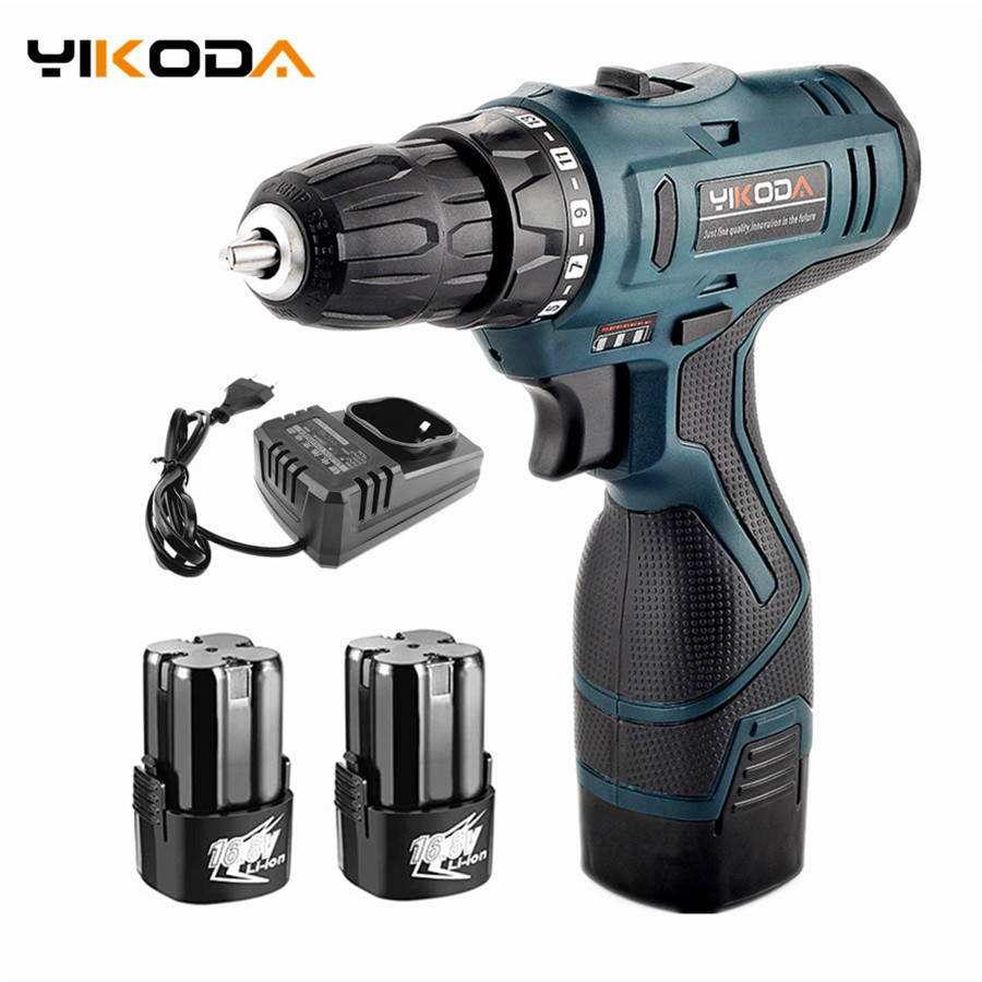 16.8V Electric Screwdriver Rechargeable Lithium Battery*2 Double Speed Cordless Screwdrivers Parafusadeira Furadeira Power Tools