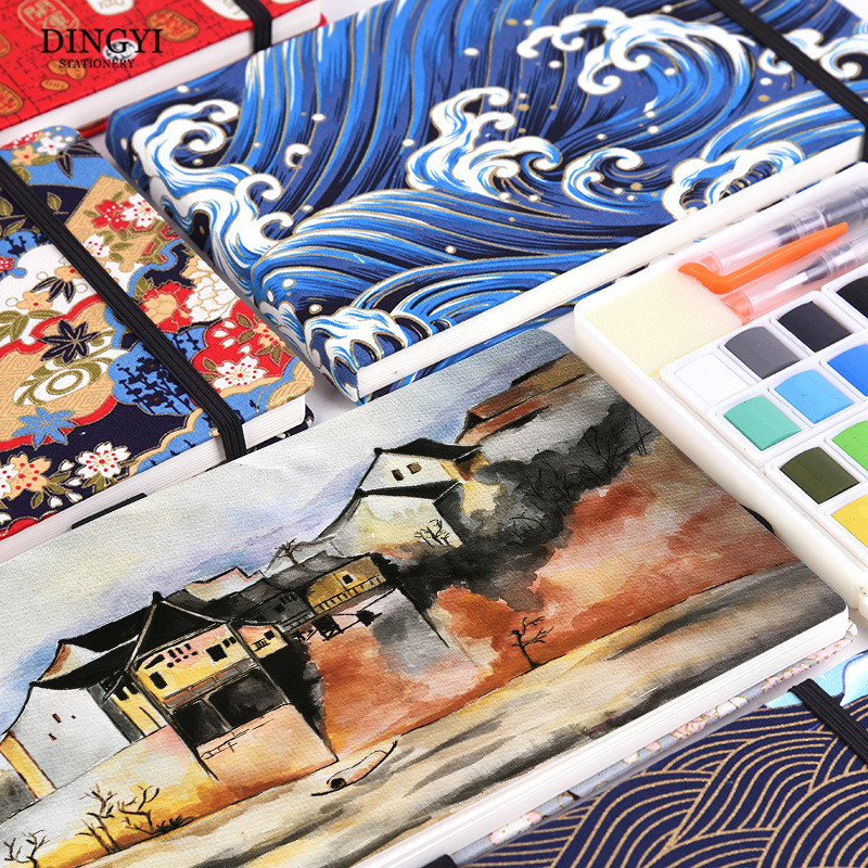 Handmade 300g Cotton Watercolor Paper 32sheets Hand Painted Portable Travel Painting Book Notepad Journal Pad Stationery