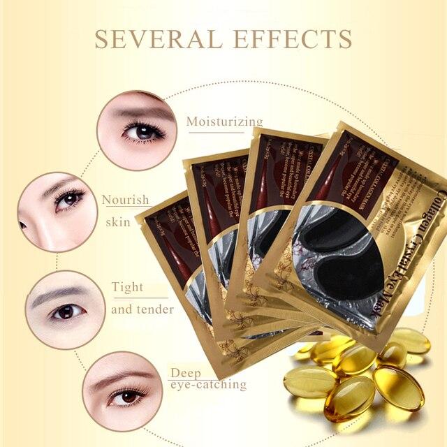 10pcs=5pair Black Collagen Eye Mask Crystal Eyelid Patch Anti Wrinkle Moisture Under Eye Dark Circle Remover Eye Pad Face Masks 2