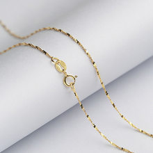 Starry Brilliant 1,2 MM Sterling Silber Kette Solide 925 Italien Halskette 16 & 18 Zoll Weiß/Rose/Gelb gold Farbe(China)