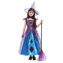 Маскарадный костюм ведьмы для девочек на Хэллоуин маскарадный