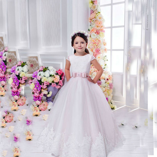 vestidos de flores de niña para la boda tobillo longitud madre hija