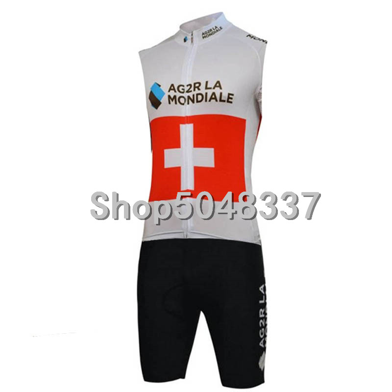 AG2R Men's Triathlon Sports Cycling Clothing Outdoor Quick Dry Breathable Sleeveless Cycling Skinsuit Ropa De Ciclismo Maillo